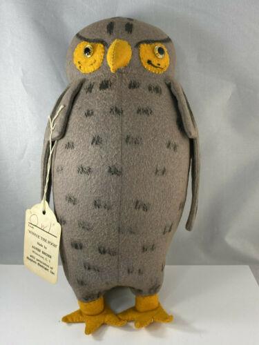 Owl w/Tag Agnes Brush Winnie the Pooh Stuffed Plush Animal Disney Antique Doll