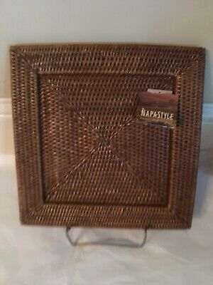 Square Plate Chargers (Napastyle Napa Style Square Rattan Charger Plate 12