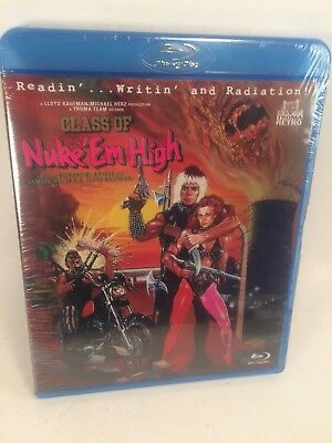 Class Of Nuke 'Em High - Blu-Ray, Troma, Unrated Directors Cut NEW (Class Of Nuke Em High Blu Ray)
