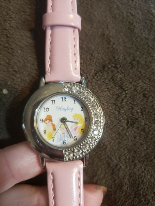 Disney Princess Watch, Needs New Battery, Has The Name Hayley On Face Of Watch