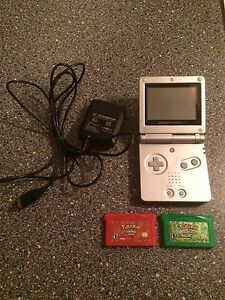 Game boy Advanced SP with 2 games