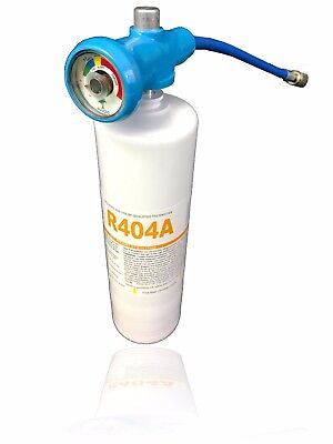 """R404A Refrigerant 27.8oz Disposable Canister with Gauge & 1/4"""" Hose for sale  Tampa"""