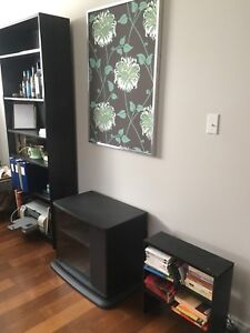 Bibliothèque et meubles rangement noirs