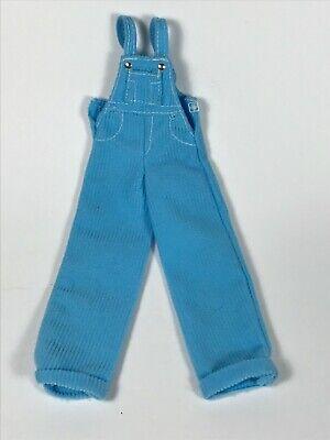 Vintage Cool Blue BARBIE Doll BIBS OVERALLS Corduroy Jumpsuit Button 1998