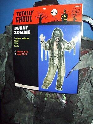 Halloween Costume Boy Childs 3 piece BURNT ZOMBIE Totally Ghoul Medium 8-10 - Burnt Zombie Kostüm