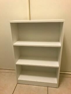Bookcase White 3 Shelves