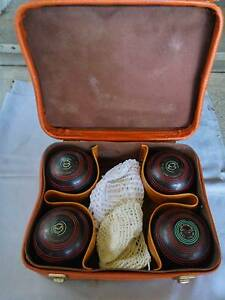 Henselite Lawn Bowls Set of 4 Size 4 15/16 Championship Linley Point Lane Cove Area Preview