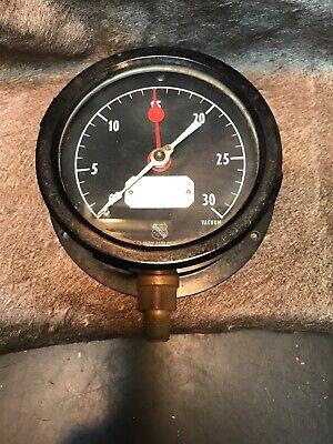 Vintage Vacuum Pressure Gauge By Ashcroft. New Old Stock. Steam Punk