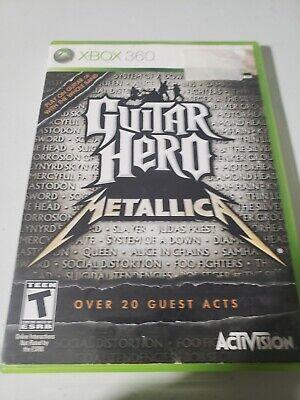 Guitar Hero: Metallica (Microsoft Xbox 360, 2009) Complete And Tested