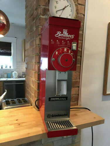 GRINDMASTER 850 COMMERCIAL BURR COFFEE GRINDER 3 LB RED BULK