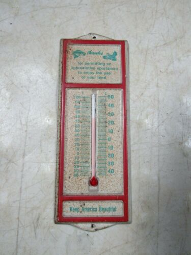 Vintage Hunting Fishing Sportsman Thank You Thermometer Small