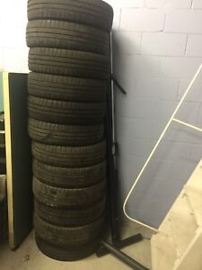Set of 12 used Goodyear Eagle tires