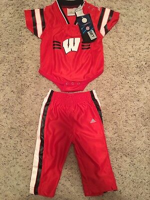 NWT Baby Wisconsin Badger Adidas 2-piece outfit jersey Packers 6-9 mo football - Badger Outfit