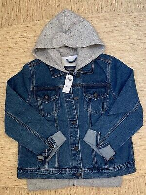 Women's Abercrombie A&F Hooded Denim Jacket Size Large Dark Wash - New With Tags