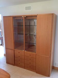 Moving Sale! Real wood display cabinet