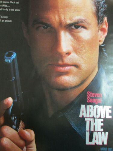ABOVE THE LAW Original THEATER-USED Movie Poster 27x40 SEAGAL One Sheet SS - C7