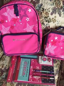 Girls new book bag set American girl price tags still on