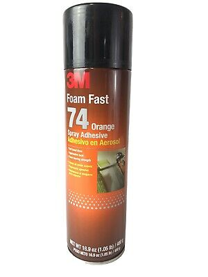 3m Foam Fast 74 Spray Adhesive Orange Net Wt 16.9 Oz 24 Fl Oz Fast Ship