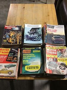 Over 200 old car magazines from 1950-1970