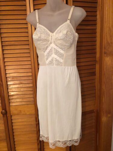 Vintage White Nylon Spandex Polyester Kayser Slip/Dress