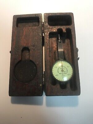 Vintage Federal Testmaster Dial Indicator Jeweled .001 With Case B2