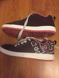 Brown and pink D.C. Sneakers - size 5