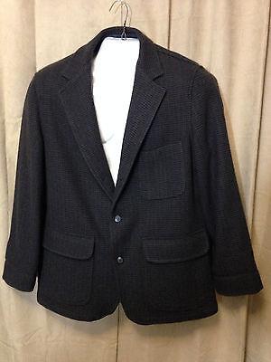 Mens Vintage Pendleton Lobo 1960s Wool Blazer Gray 3 Button