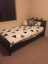 Quality timber bed & bedside table Hobartville Hawkesbury Area Preview