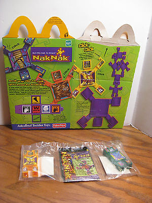McDonalds Kid's Meal Toy - NakNak - Green & Yellow Stacking Toys w/ box - 2003 for sale  Springfield