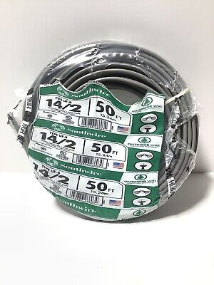 Southwire Outdoor Wire Uf-b 142 With Ground 600 Volts 50 Ft Underground New