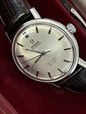 Beautiful Vintage Omega Seamaster De Ville Automatic Leather Strap Watch