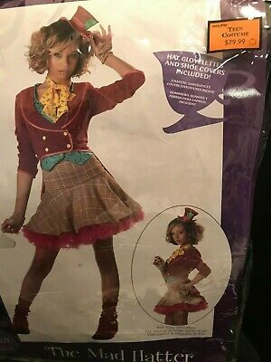 Mad Hatter Halloween Costumes For Girls (Halloween California Costumes Mad Hatter Tween Dress Girls Junior)