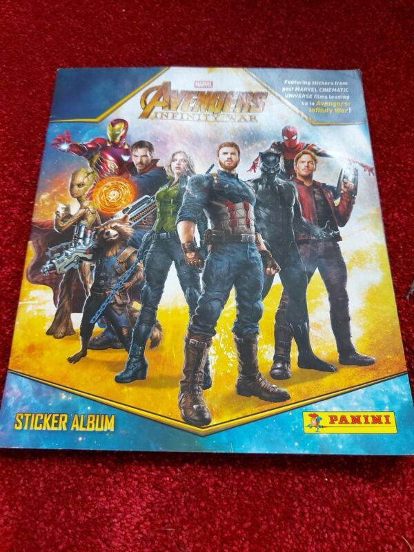 Not+Used+Avengers+Infinity+War+Sticker+Album