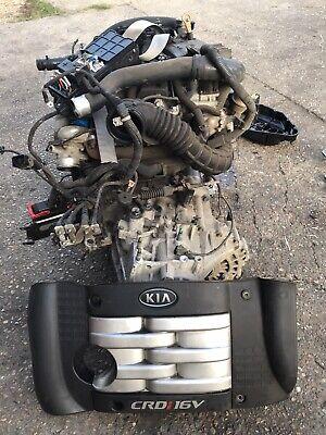 06-12 Kia Sedona 2.9 CRDI Diesel Engine COMPLETE Injectors Pump turbo Manual