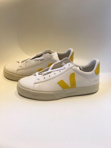 Veja, Sneaker, Campo Easy, Extra white tonic, Weiß Gelb , 39, Neu!