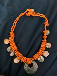 Pretty orange necklace