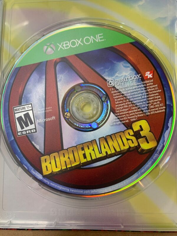 Borderlands 3 Xbox One DISC ONLY Ships Today