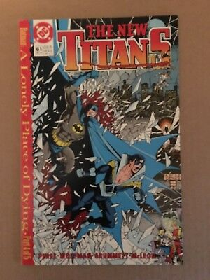 Teen Titans #61 DC Comic Book 1989 1st Printing A Lonely Place Of Dying - Teen Titans Shoes