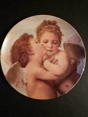 First Issue THE FIRST KISS by William Bouguereau CHERUBS OF INNOCENCE Plate