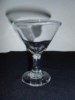 VTG MARTINI Sherry Liquer Wine Stemmed Shot Glass Blown Crystal FREE SHIP! Martini Shot