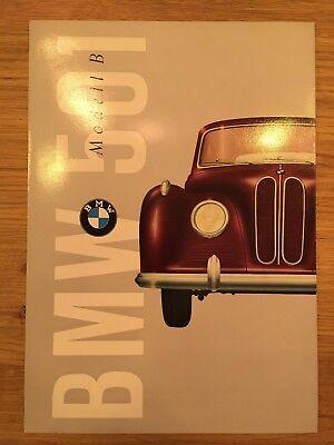 Prospekt Brochure Katalog BMW 501 Modell B 1954 ungestempelt