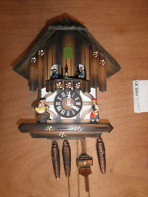 Cuckoo Clock 1 Day Chalet - Cuckoo Clock German Black Forest working SEE VIDEO Musical Chalet 1 Day CK2201