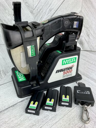 MSA Evolution 5000 Thermal Imaging Camera System  Charge Base + Three Batteries!
