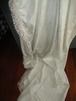 Used, CROSCILL WHITE LINEN PARFAIT SCARF VALANCE 42 X 216 POLYESTER for sale  Peoria