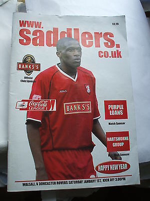Walsall v Doncaster Rovers 1-1-2005