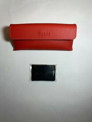 Authentic Guess Glasses Case with Cleaning Cloth Red (Guess Glasses Case)