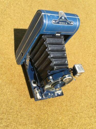 1920s era BLUE Kodak Vest Pocket Series III In Original Carrying Case Box RARE!!