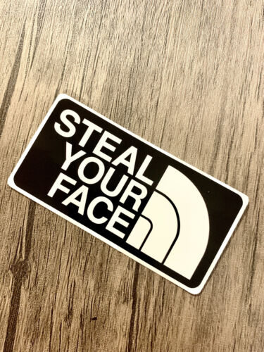 Grateful Dead Steal Your Face Parody North Premium Vinyl Sticker Jerry Garcia