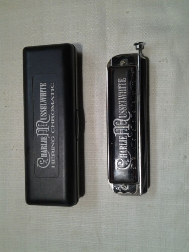 Rare  Hering / Charlie Musselwhite A + Bb Special 48 Chromatic Harmonica