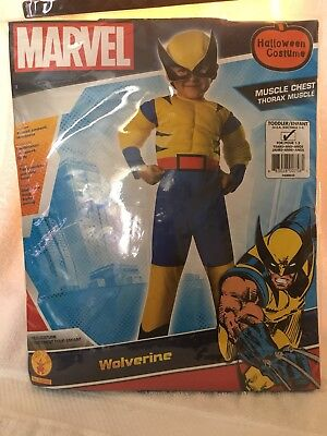 Marvel Super Hero Squad X-men Muscle Wolverine Toddler  Dress Up Size 2-4